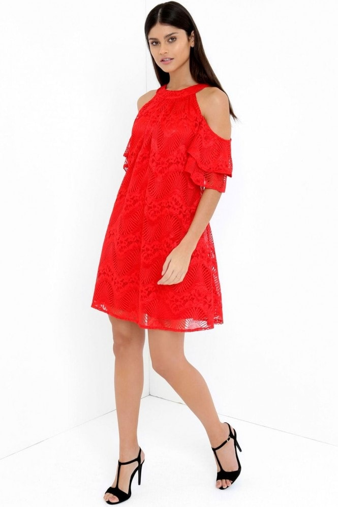 Little Mistress Red Shift Dress