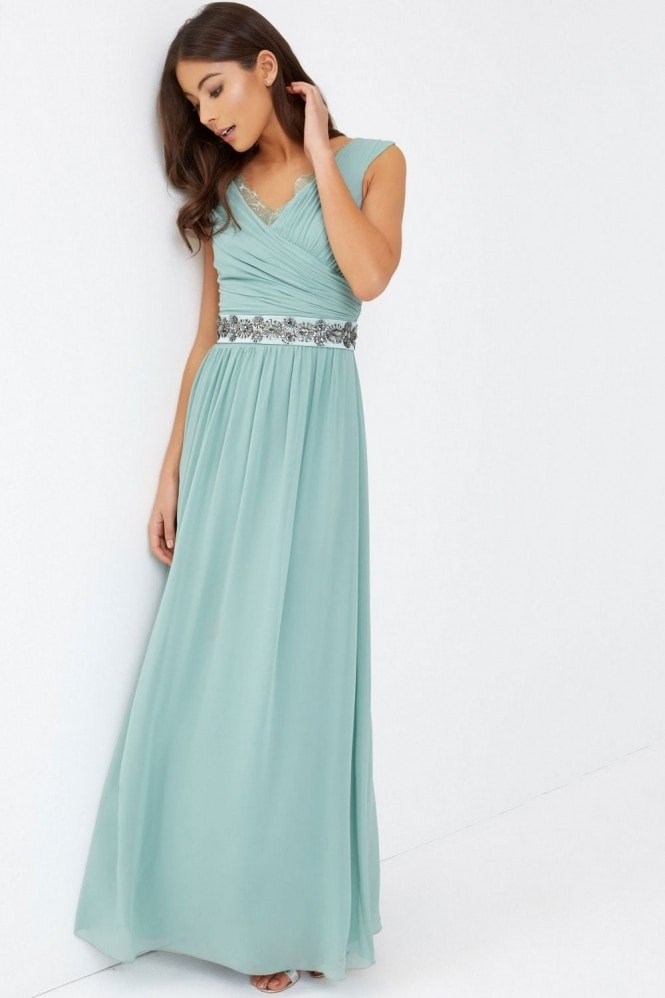 Little Mistress Green Maxi Dress