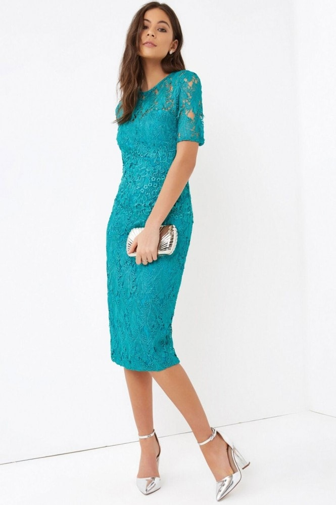 Little Mistress Green Crochet Dress