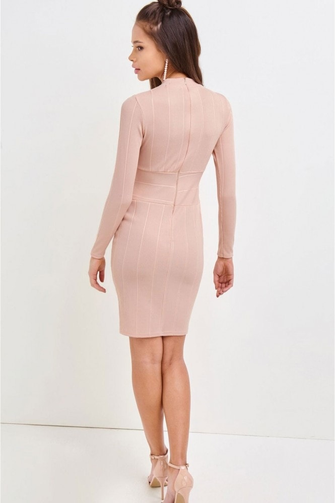 Girls on Film Pink Bodycon Dress