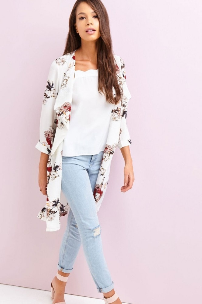 Outlet Girls On Film White Print Jacket
