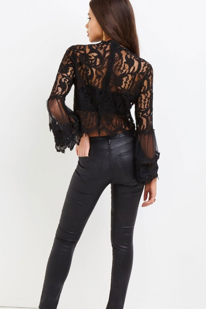 Girls on Film Black Lace Top
