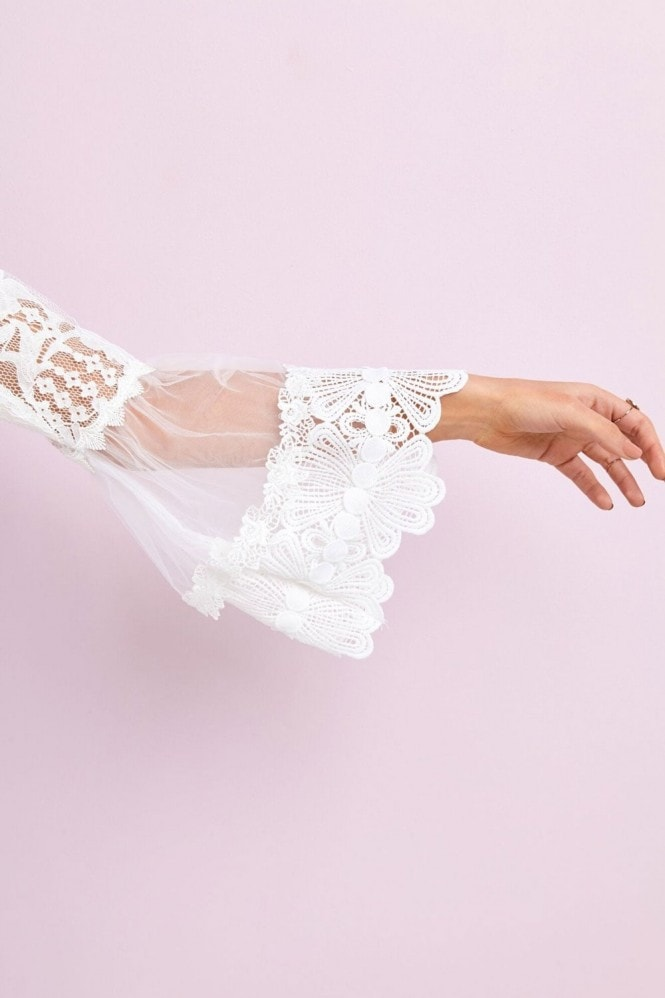 Girls on Film White Lace Top