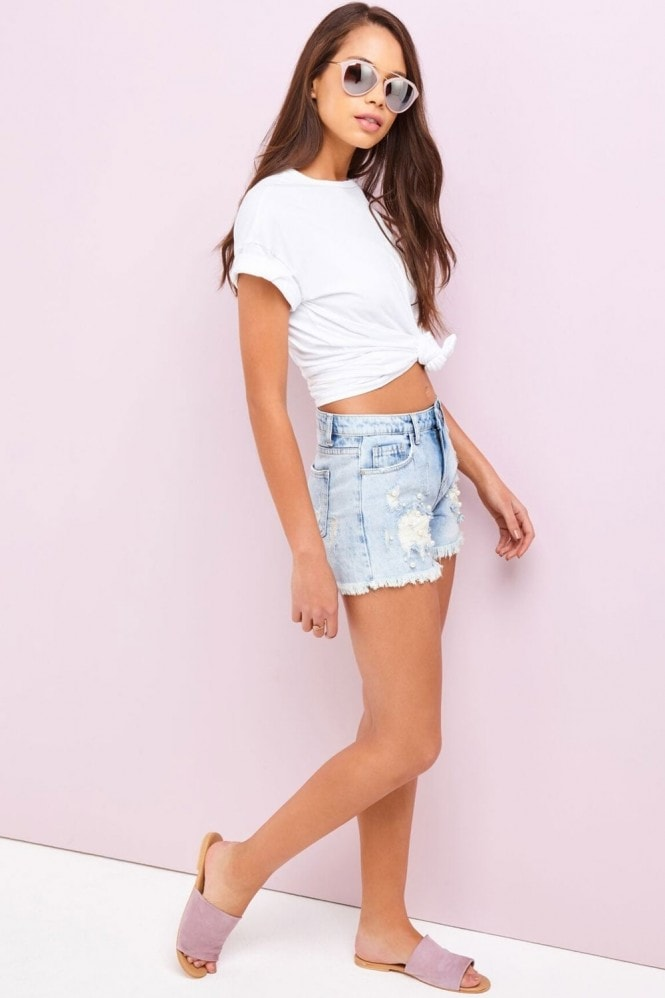 Girls on Film Denim Shorts