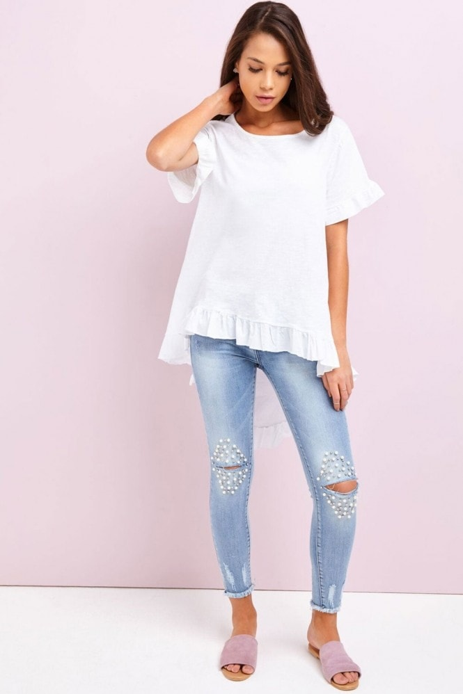 Outlet Girls On Film White High Low Top
