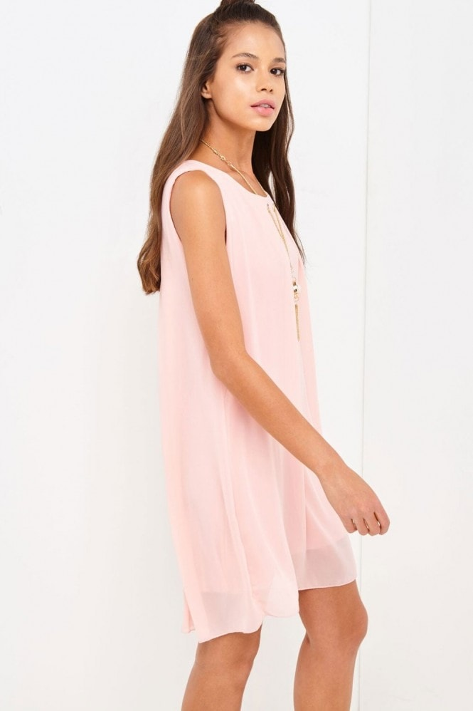 Girls on Film Pink Shift Dress