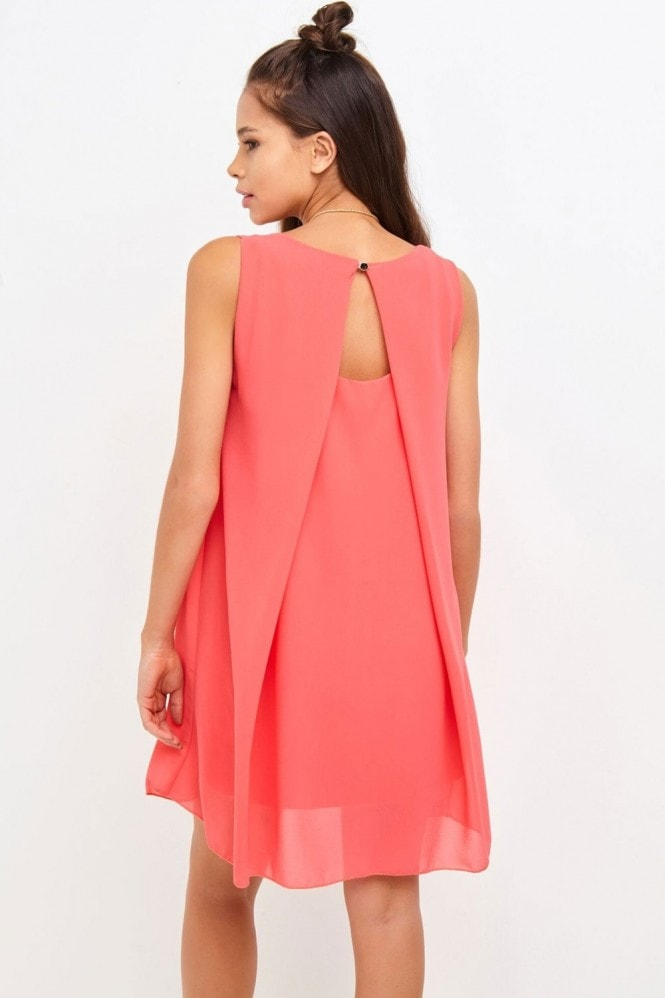 Girls on Film Coral Shift Dress