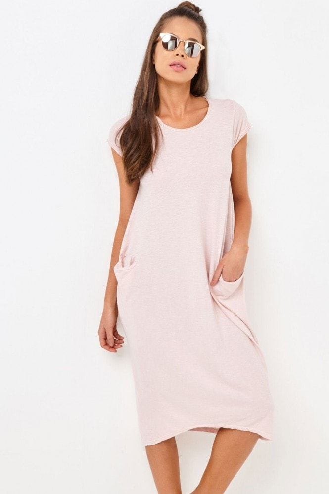 Girls on Film Pink Pocket Dress
