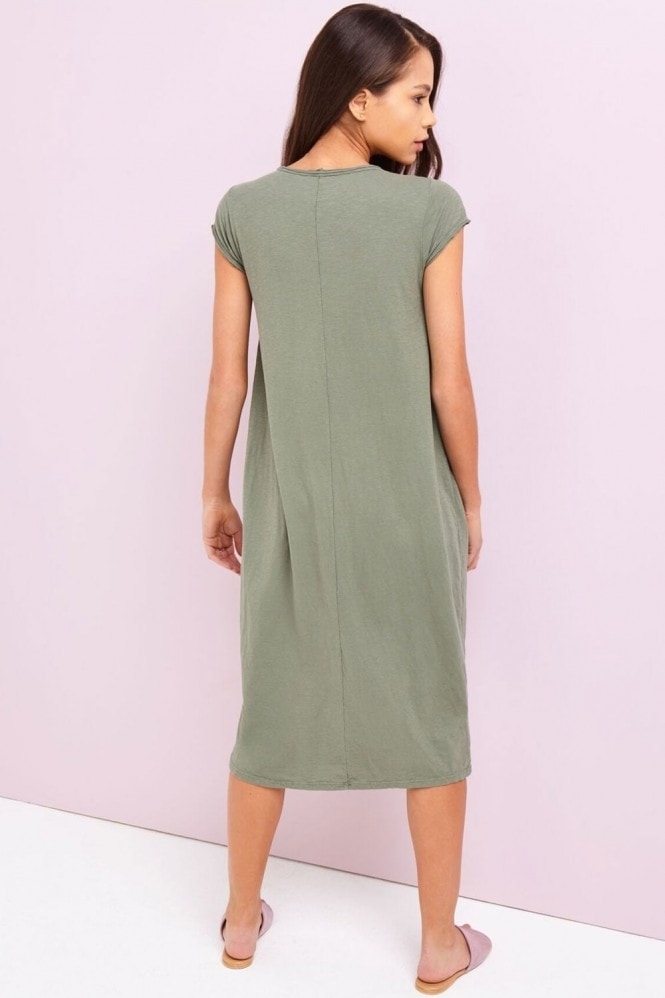 Girls on Film Khaki Pocket Dress