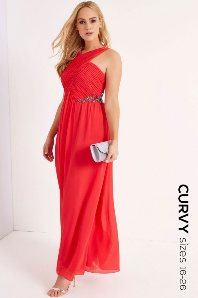 Little Mistress Curvy Poppy Jewel Maxi