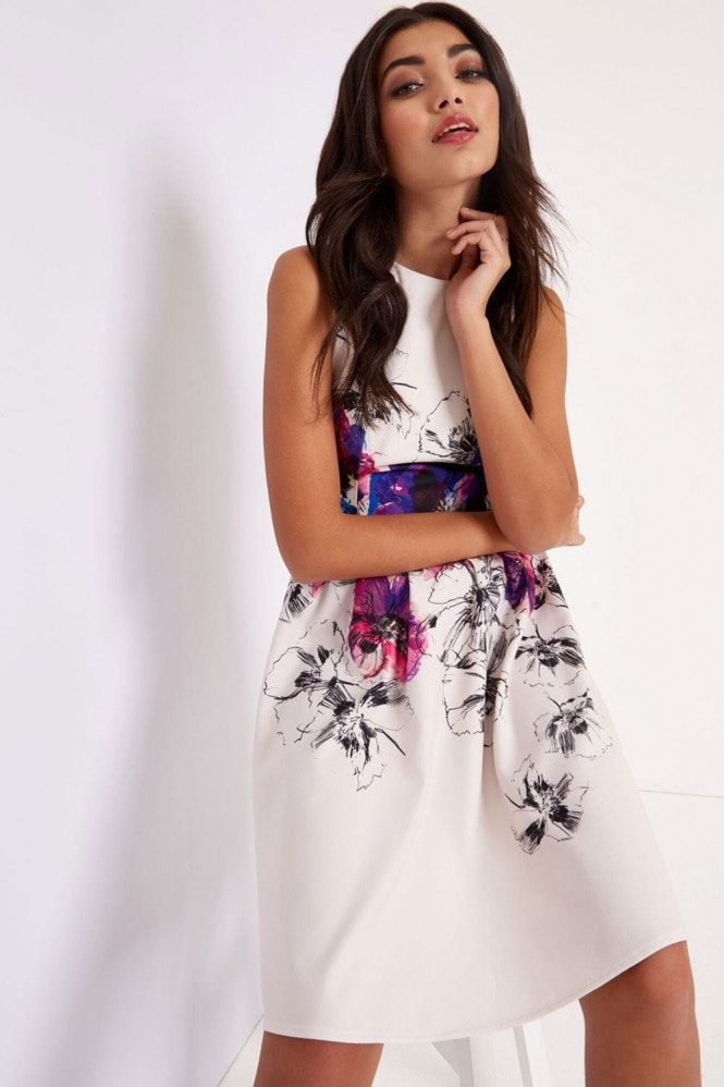 Floral Print Prom