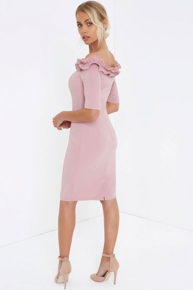 Outlet Paper Dolls Rose Bardot Bodycon Dress