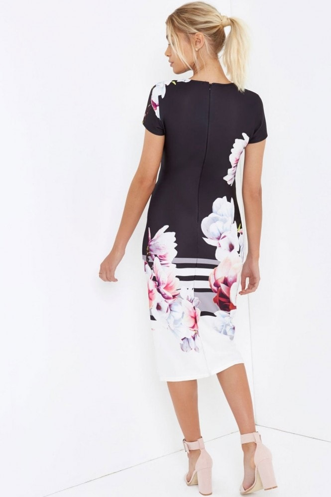 Girls on Film Floral Print Midi Dress