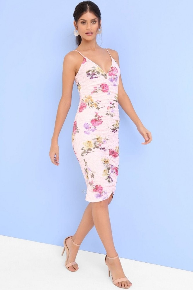 Girls on Film Floral Print Bodycon Dress