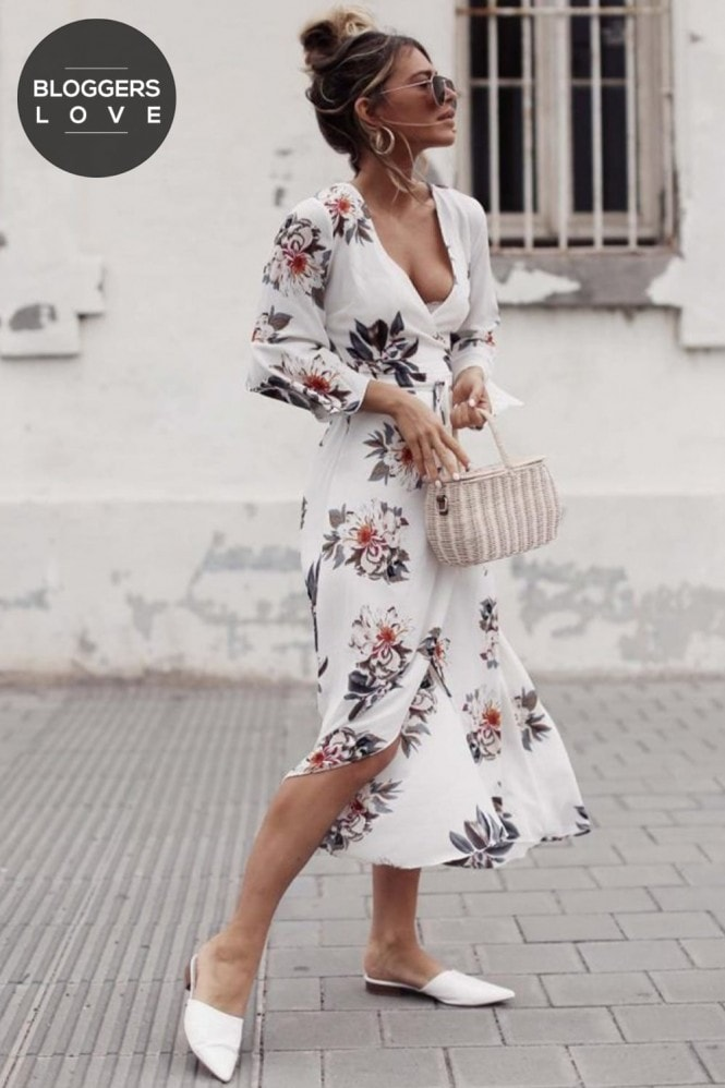 Girls on Film White Floral Print Midi Dress
