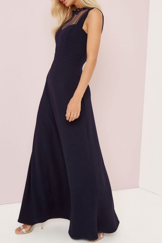 Little Mistress Navy Applique Maxi