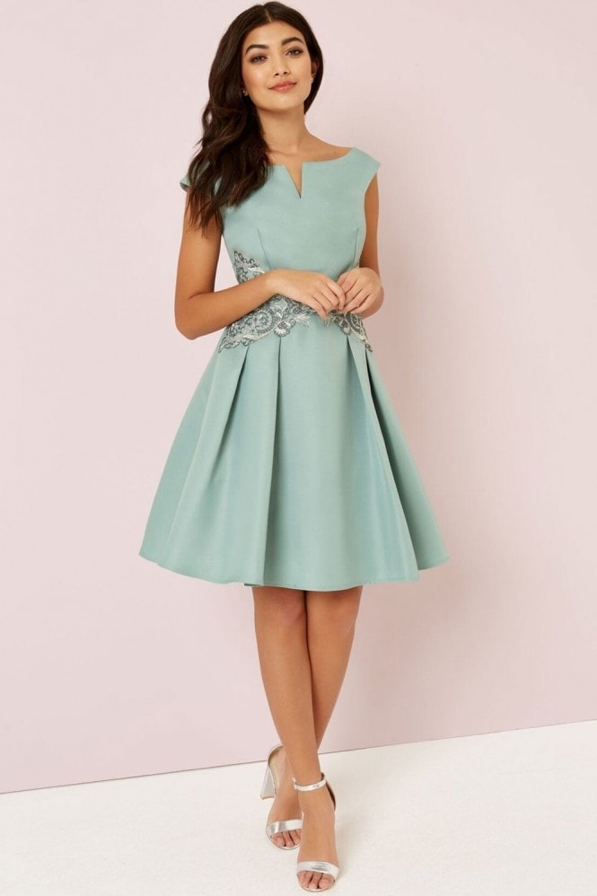 Little Mistress Sage Embroidery Prom
