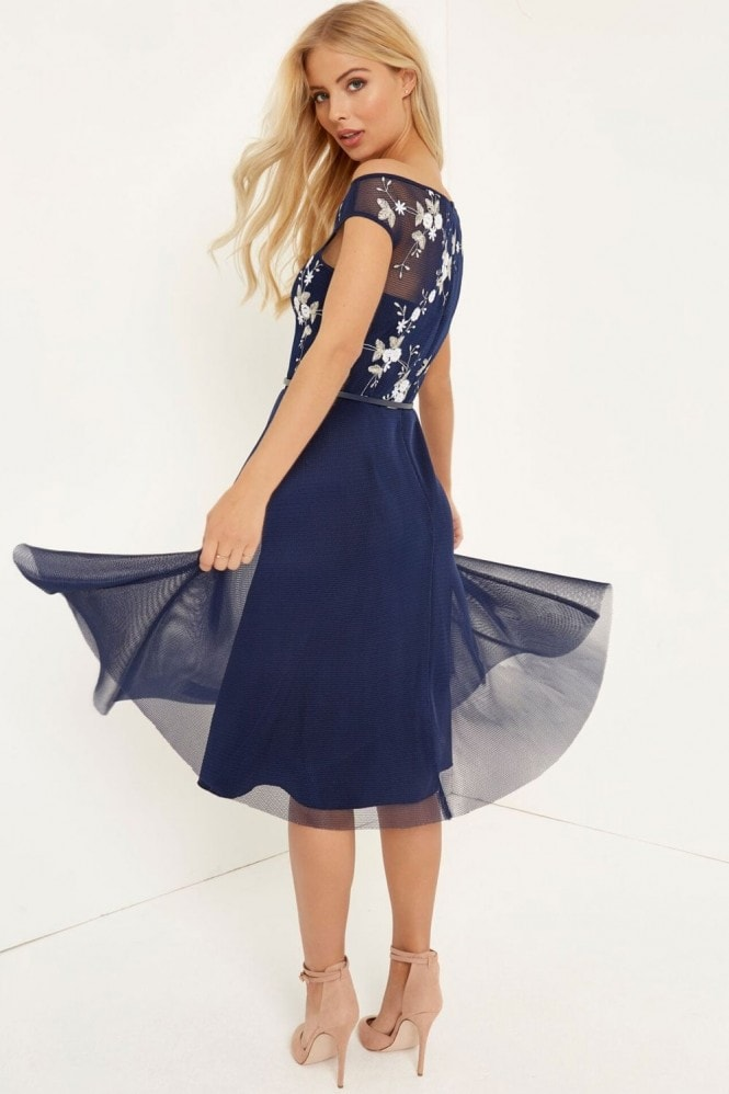 Little Mistress Floral Mesh Midi