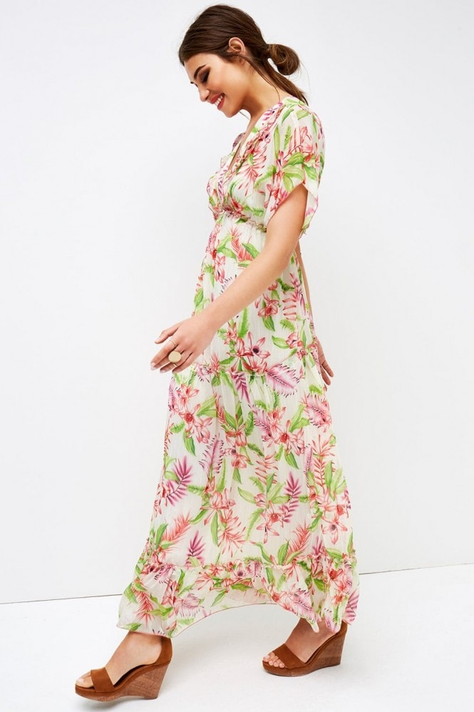 Girls on Film Floral Ruffle Maxi