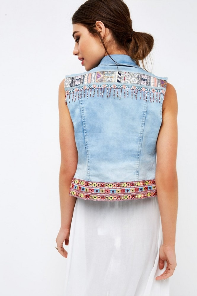 Girls on Film Denim Vest Jacket