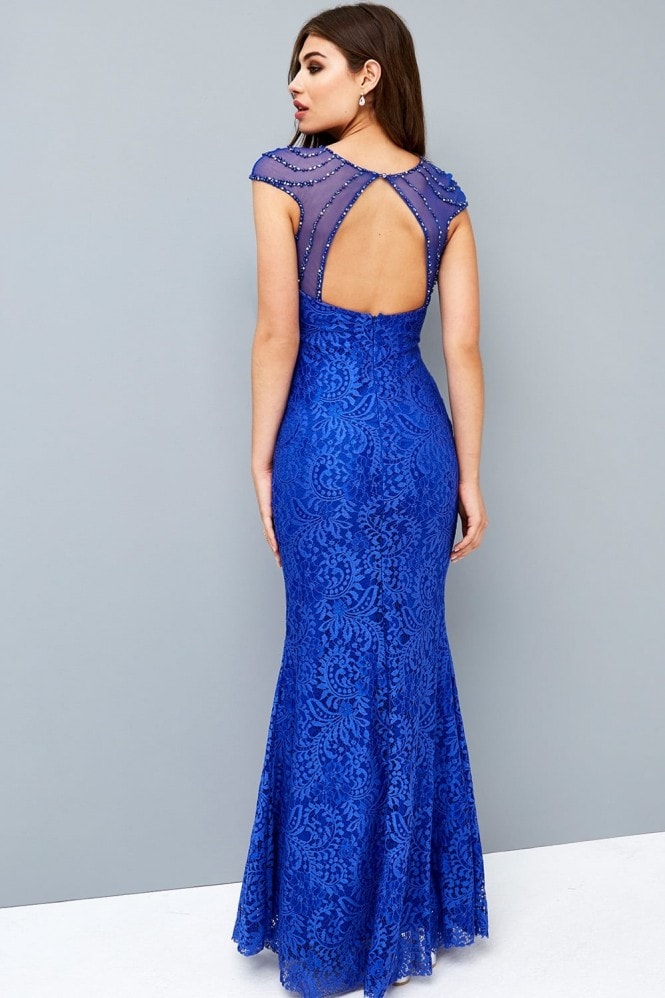 Little Mistress Cobalt Fishtail Maxi