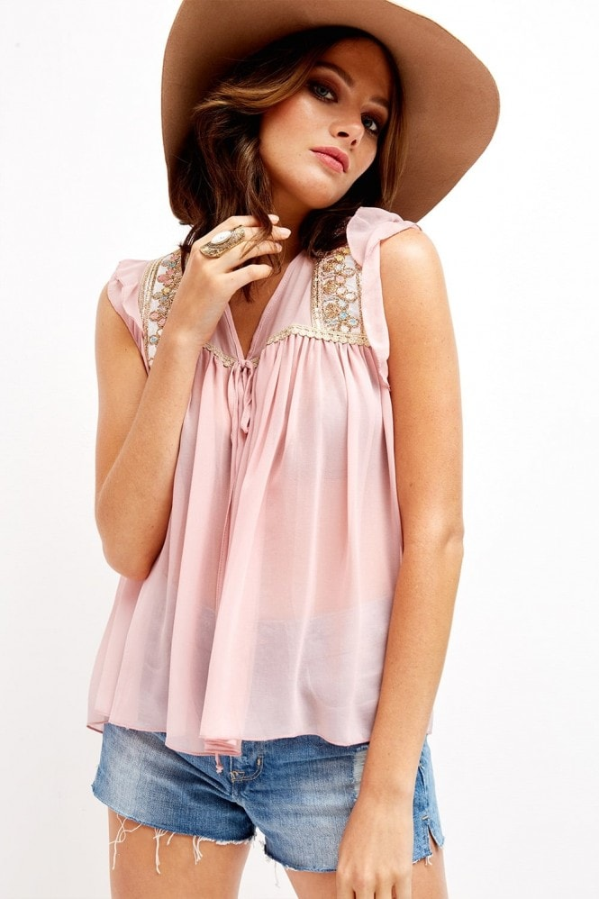 Outlet Girls On Film Pink Tunic Top