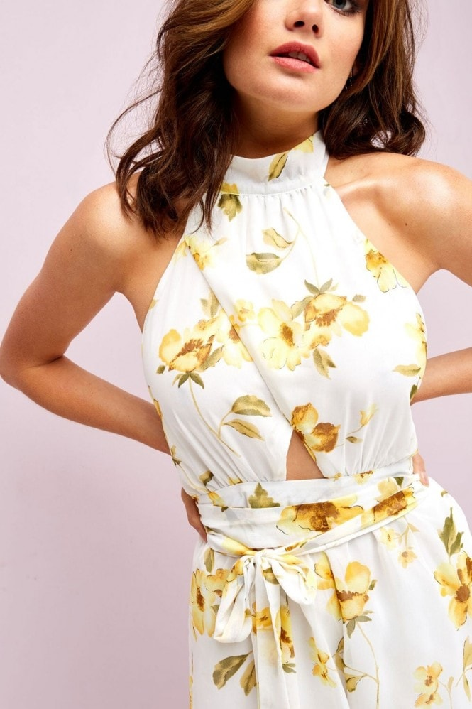 Outlet Girls On Film White Floral Playsuit
