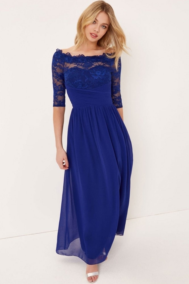 Little Mistress Cobalt Lace Maxi
