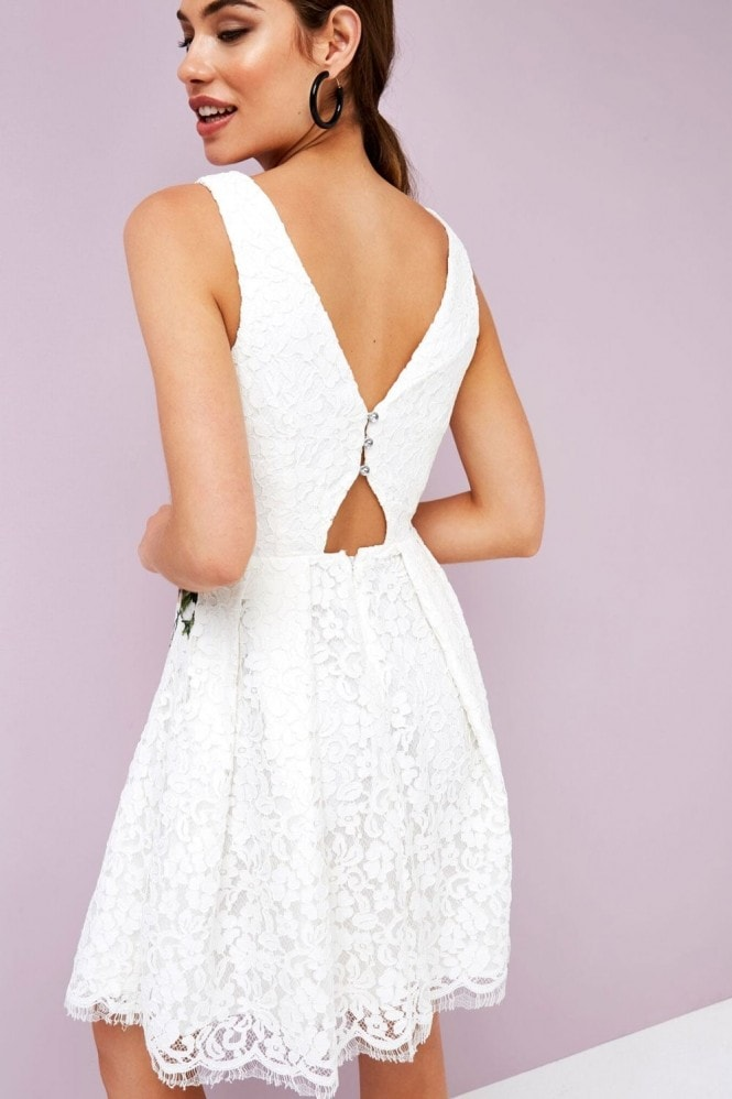 Little Mistress White Prom Dress