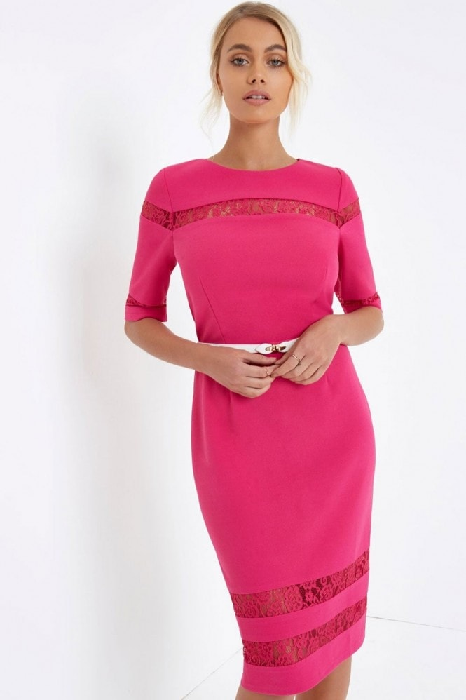 Paper Dolls Pink Bodycon Dress