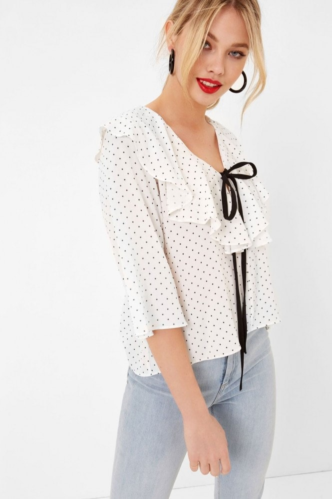 Girls on Film Tie Front Ruffle Top