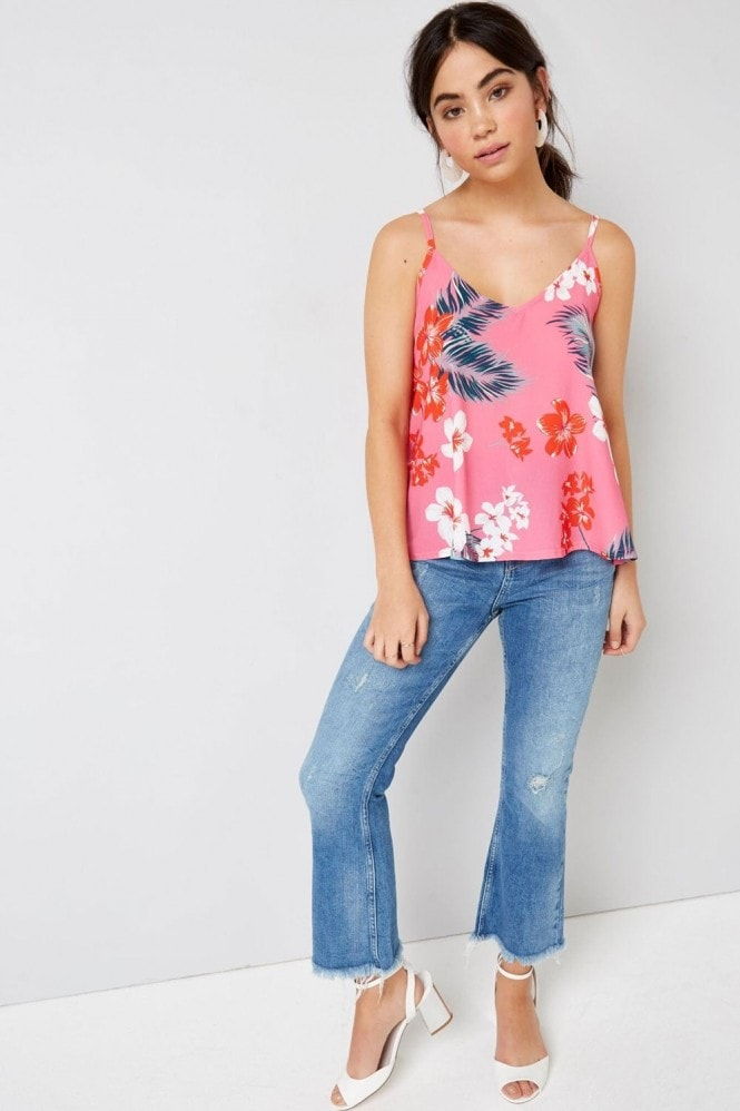 Outlet Girls On Film Pink Tropical Cami