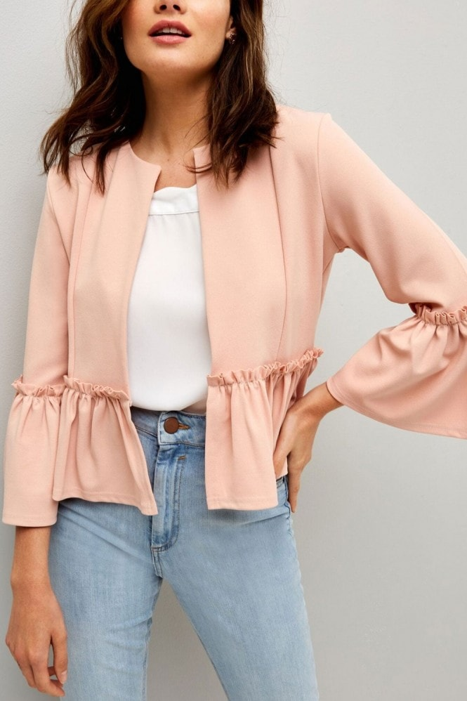 Girls on Film Pink Frill Hem Jacket
