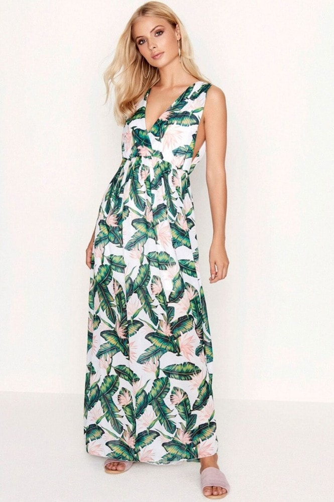 Outlet Girls On Film White Floral Maxi Dress