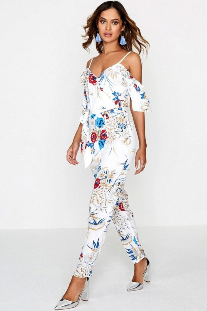 Girls on Film Floral Jumpsuit