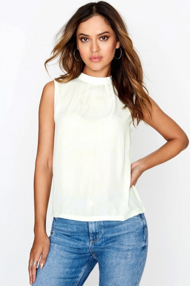 Outlet Girls On Film Mint High Neck Top