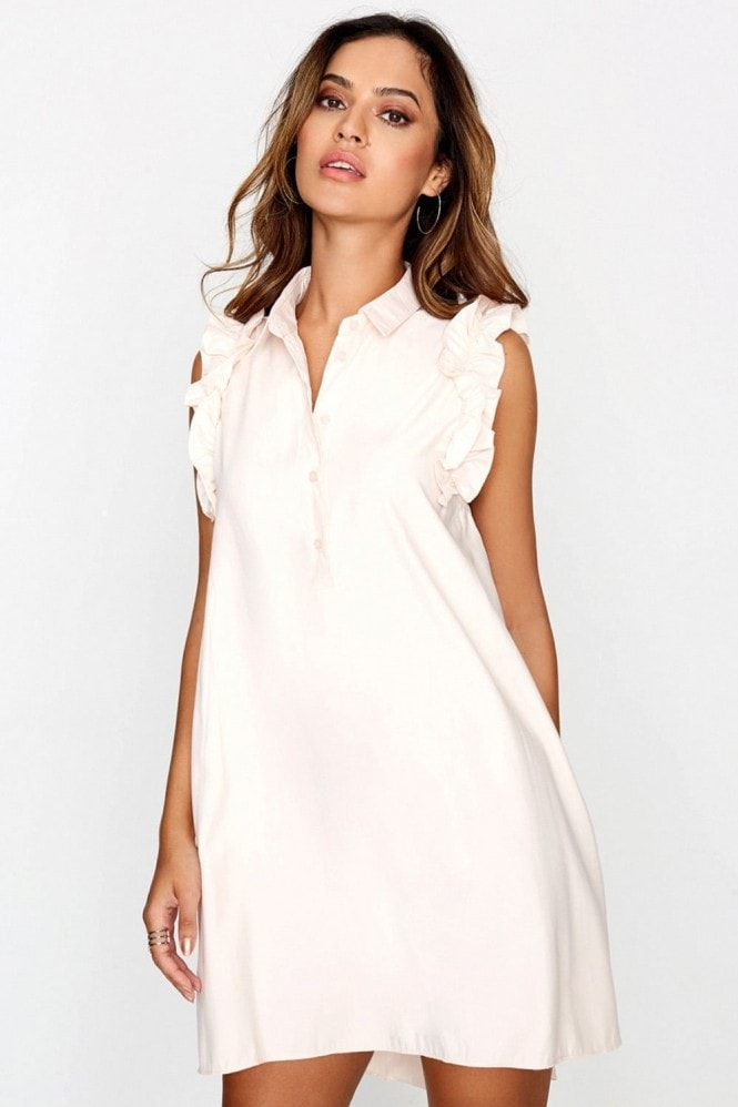 Outlet Girls On Film Pink Short Sleeve Dress