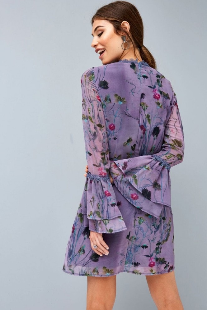 Little Mistress Lavender Print Shift