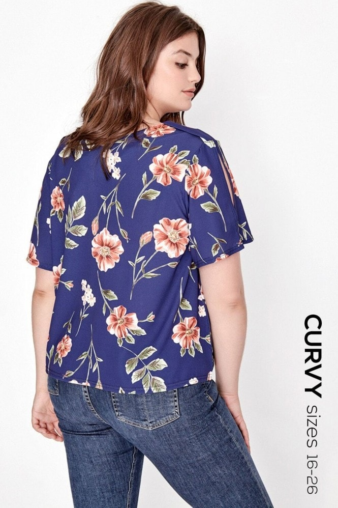 Outlet Girls On Film Floral Print Blouse