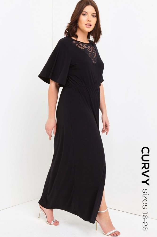 Outlet Girls On Film Black Maxi Dress