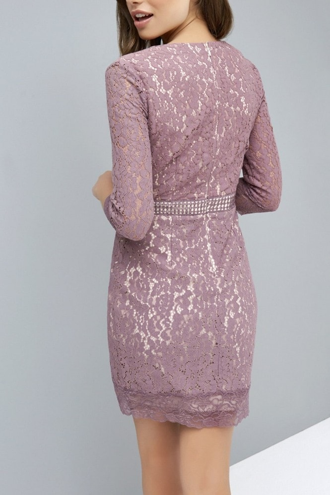 Rose Lace Bodycon