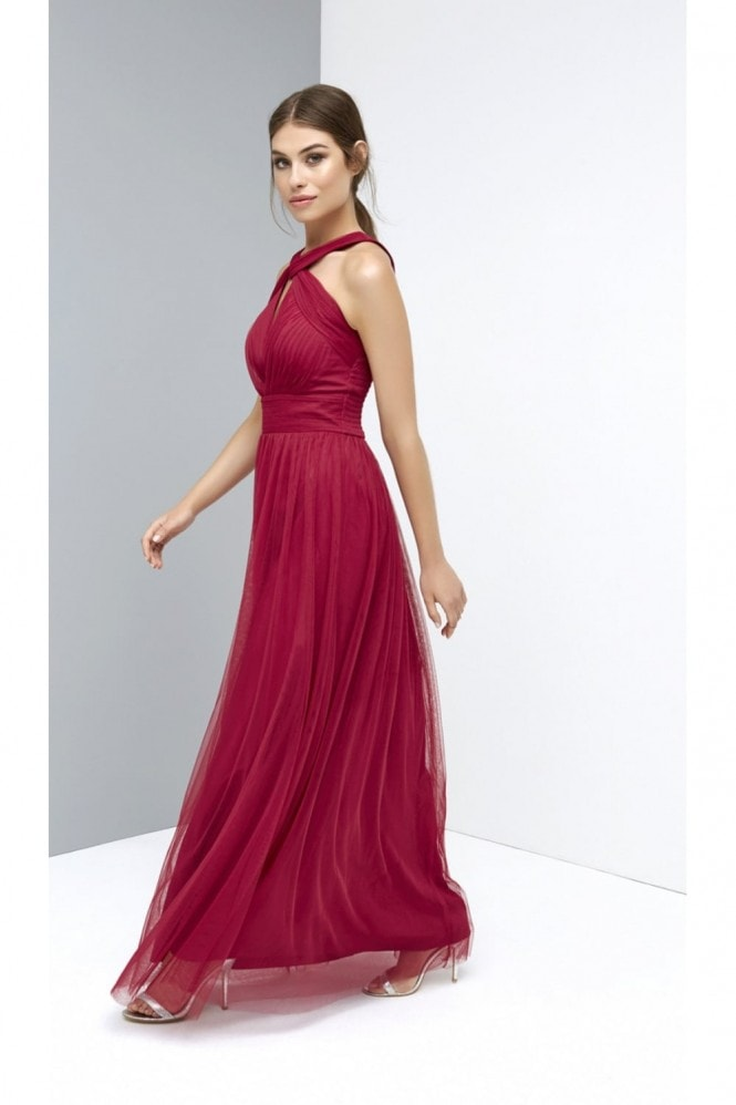 Little Mistress Berry Mesh Maxi