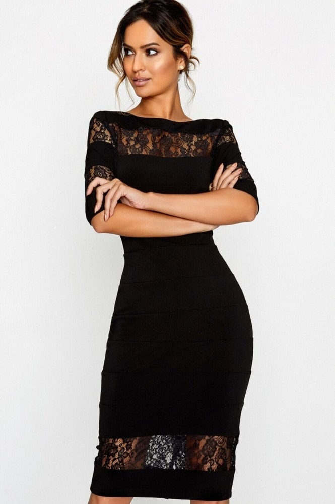 Paper Dolls Black Bodycon Dress
