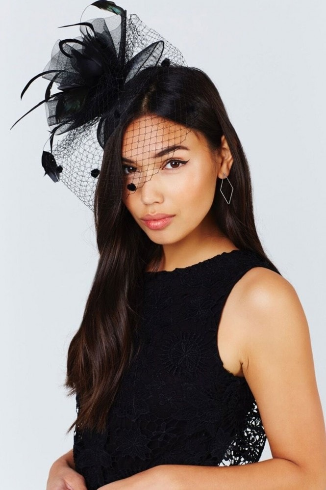 Little Mistress Black Fascinator