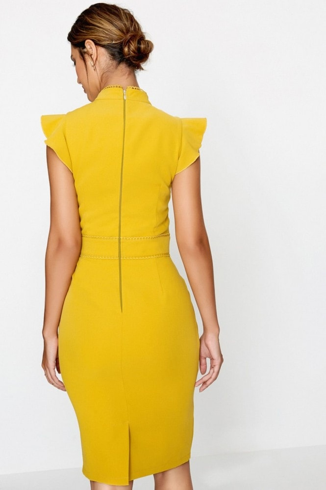 Paper Dolls Yellow Bodycon Dress