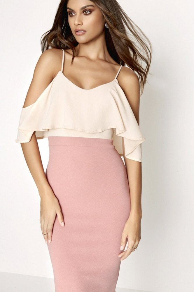 Girls on Film Rose Bodycon Dress