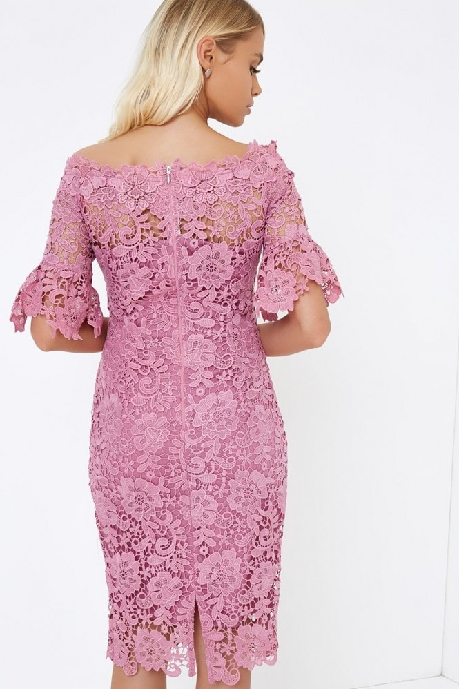 Paper Dolls Mauve Crochet Dress