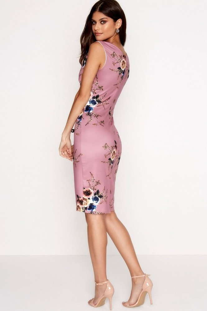 Outlet Girls On Film Rose Print Bodycon