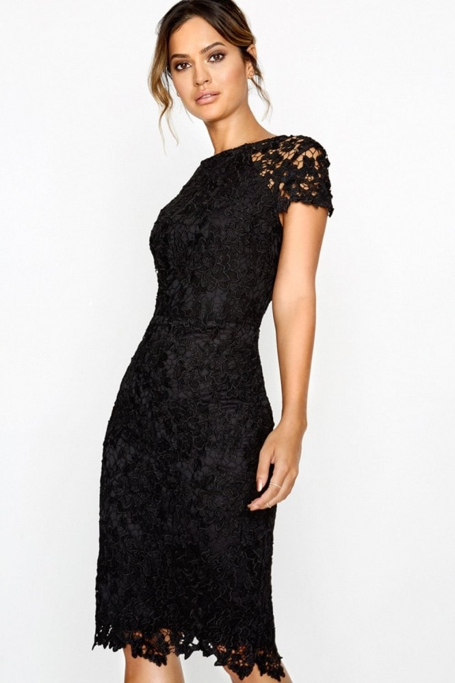 Paper Dolls Black Crochet Dress