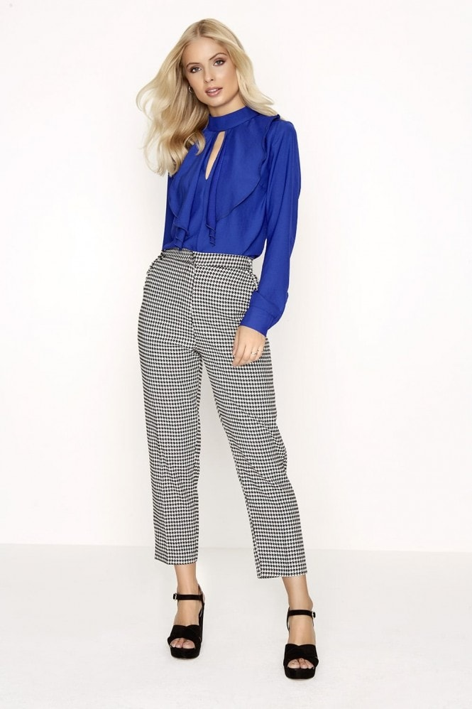 Outlet Girls On Film Dogtooth Trousers